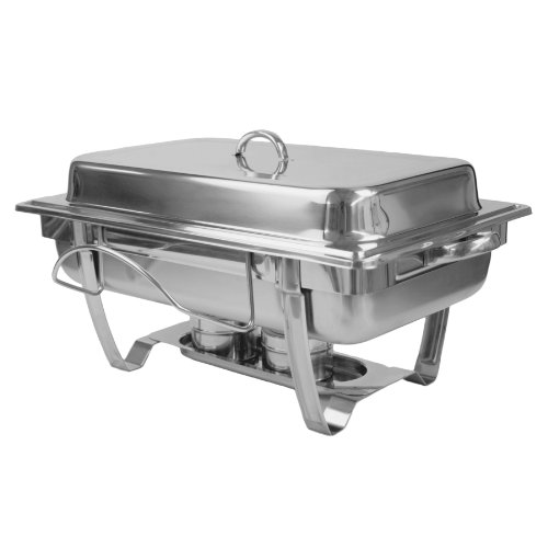 Excellante 8 Quart Stainless Steel Chafer, Stackable by Thunder Group (Steel Chafer)