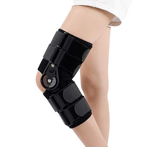 AOPAWOX Kniebandage - Verstellbare, offene Tibia-Unterstützung für Verletzungen der Sehnen, Bänder und des Meniskus - Zum Schutz vor Arthritis und zur Schmerzlinderung,M