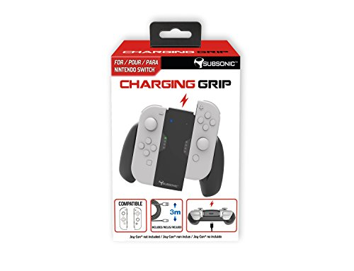 Subsonic - Manette support de charge pour Joy-Con avec cable USB C de 3 mètres - Grip chargeur pour JoyCon de la console Nintendo Switch - Charging Grip