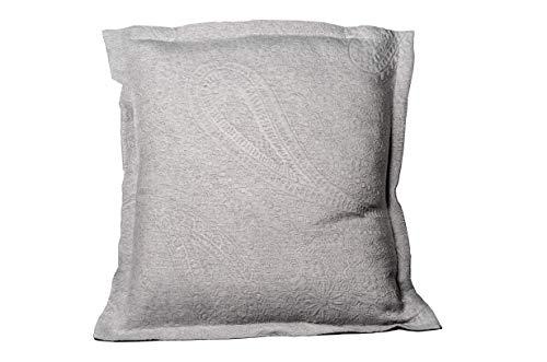 Leiper Tagesdecke Sabri von Jacquard Cashmere in Weiß, Grau oder Beige (alle Maße). Pack 2 Fundas de Cojin 60x60 + 3cm de pestaña grau - Tribal Cashmere