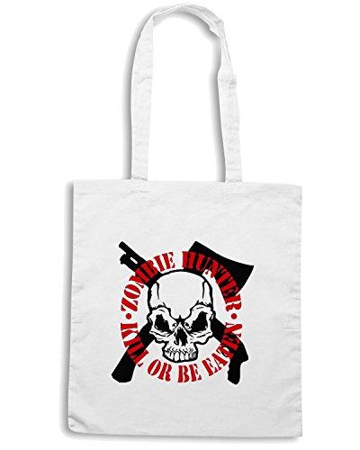T-Shirtshock - Borsa Shopping TZOM0019 zombie white Bianco