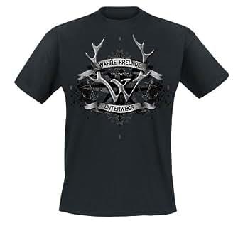 Frei.Wild - Wahre Freunde Unterwegs T-Shirt, schwarz, Grösse 3XL