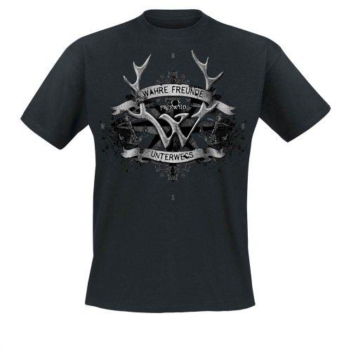 Frei.Wild - Wahre Freunde Unterwegs T-Shirt, schwarz, Grösse 4XL