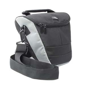 DURAGADGET holster / telescopic style / Top-loader case / bag / for digital SLR camera Compatible with Panasonic Lumix G, G1, G2, FZ18 / FZ8 / FZ18 / FZ8 / DMC-GH1 DMC-GH1 / DMC-GF1K / DMC-GF1C / DMC-G1W / DMC-FZ35