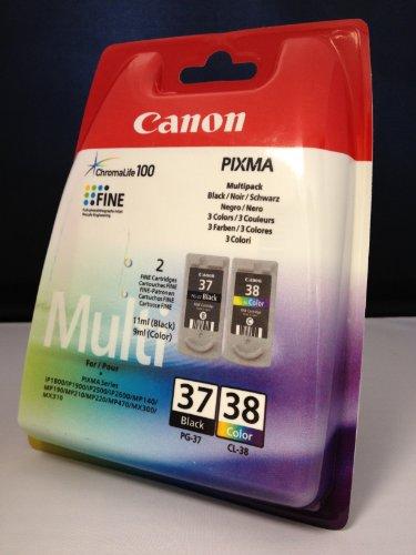 2 Original Druckerpatronen für Canon Pixma IP 2600 IP2600 (Black/Color)