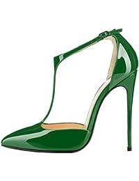 Verde Da Amazon it 38 Tacco Con Scarpe Donna IHPxSqzw8x