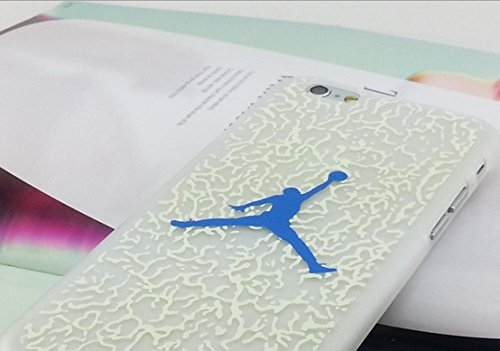Air Jordan Luminous PC Weiß Hard Case für Apple iPhone 5/5S & 6/6S, CRACK BLUE, APPLE IPHONE 6/6S CRACK BLUE
