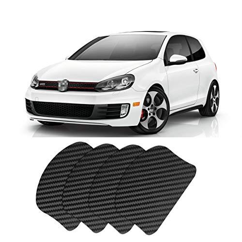 LITTOU 4xStück Magnetisch Kratzfest für Auto-Türgriffe Aufkleber und Türgriffmulden Lackschutz für Golf 7 2014-2018