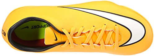 Nike  Jr. Mercurial Victory V IC, Chaussures de football pour compétition mixte enfant Orange (laser Orange/white-black-volt 800)