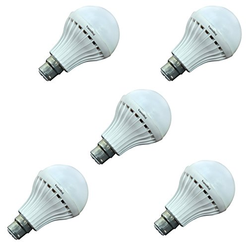 VarniRaj Microfiber LED Bulb 12 Watts (Pack of 5) (Guarantee period: 6 Month) (12W-5)