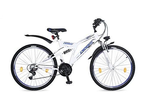 26-Zoll-Kinderfahrrad-Mountainbike-Kinder-Fahrrad-Rad-Bike-Jugendfahrrad-viper-BLAUWEISS
