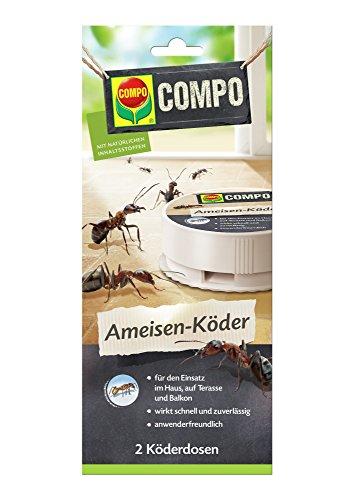 Compo Ameisenmittel Ameisen-Köder N 2 Dosen Bio, grün, 21 x 11 x 26 cm, 20775