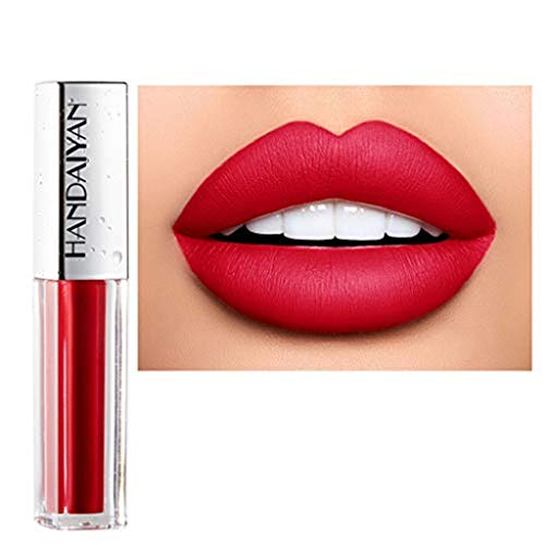 Lippenstift TTLOVE Wasserdichte Langlebige Lipgloss FlüSsige Samt Liquid Lipsticks, Matte Makeup Lip Farben FlüSsigkeit HäLt Sehr Lange Lipstick - Super Shine Apricot