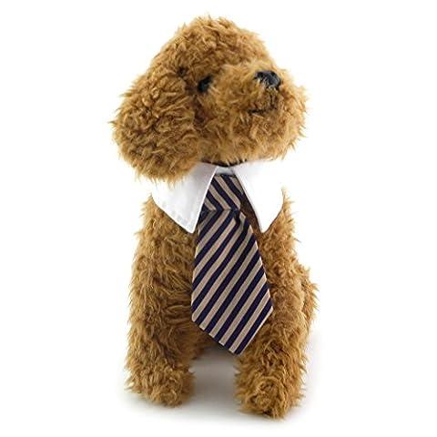 ranphy Kleiner Hund/Katze Gentleman Krawatte für weibliche Stecker gestreift Krawatte