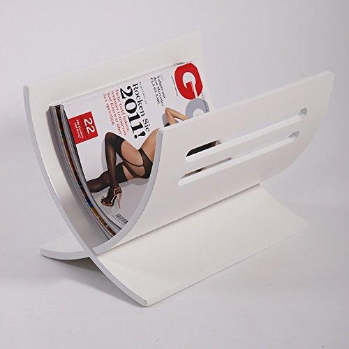 Zeitungsständer News Design Zeitungshalter Weiss zerlegbar