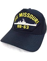 Casquette de pont Navire Militaire Navy Battleship Americain USS Missouri BB-63
