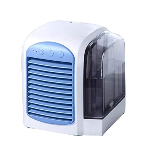 Ventilatoren Elektrischer Tragbare Kleine Klimaanlage Der Kühlanlage Stiller Studentenwohnung Mini-USB Geschenk (Color : Blue, Size : 15 * 15 * 17cm)