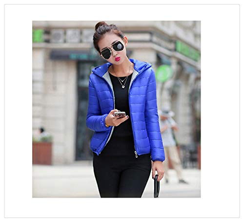 2018 New Winter Jacket Women Autumn Hooded Coat Female Spring Jacket Women Padded Cotton Parkas Casual Thin Light Basic Jackets Ice Blue L