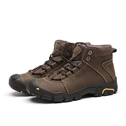 Autunno Outdoor Scarpe Da Uomo Alte Scarpe Invernali Calde Da Trekking Impermeabili Antiscivolo Scarpe Da Trekking Yellow