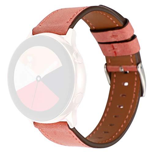 Bearbelly Armband Kompatibel mit Samsung Galaxy Watch Active 40mm Pure Farbe Leder Sport Business Ersatz Uhrenarmband Vintage Classical Uhrenarmband Herren Damen Kettenarmband (Für 2 Cricket Galaxy Samsung)