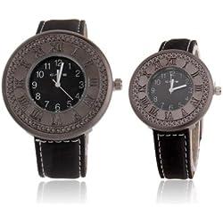 Retro Style Classic Quarz Wrist Uhr/Couple Uhr + Synthetic Kunstleder Strap Uhr