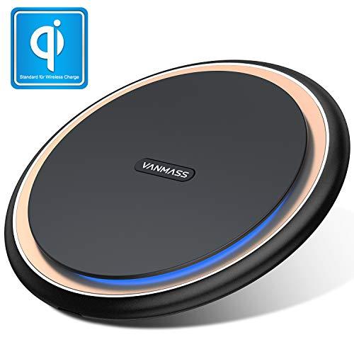 VANMASS Wireless Charger 15W Fast Qi Induktive Ladestation Wireless Ladegerät Intelligent 10W 7.5W 5W mit LED Indikator für iPhone XS/XR/X/8 Plus Samsung Galaxy S9/S8/S7 Edge Alle Qi Fähige Geräte