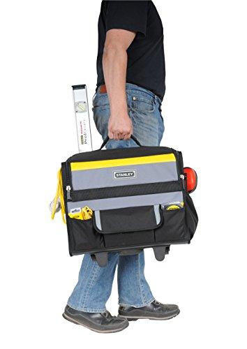 Stanley Werkzeugkoffer / Werkzeugtasche mit Rollen, (44.5x25.5x42cm, wasserfester Kunststoffboden, Trolley aus strapazierfähigem und robustem 600x600 Denier Nylon, viele Verstaumöglichkeiten) 1-97-515 - 9
