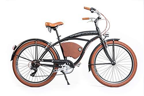 Green Moving Bicicletta elettrica Vintage Cruiser E-Bike Man
