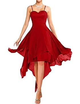 Victory colore alla moda senza spalline stanotte vestimento Kurz Chiffon estate vestiti danza vestimento sposa...