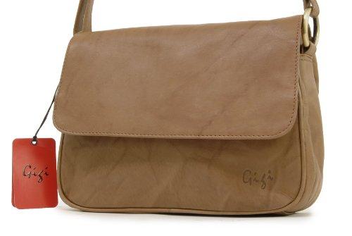 Borsa in pelle a tracolla di Gigi - 1008 Antiquariato Miele (Marrone Scuro)