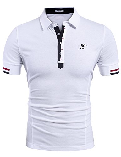 HOTOUCH Herren Poloshirt Polohemd Slim Fit Hemd Polo Shirt Kurzarm (Polo Hemden)