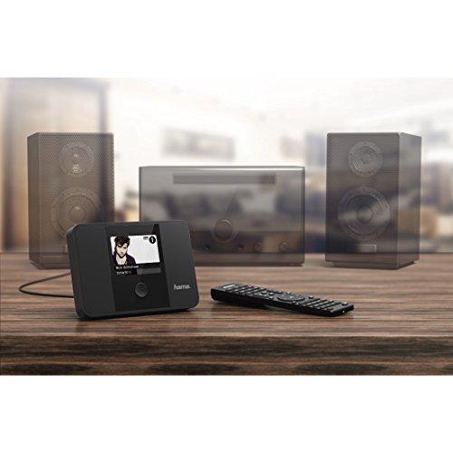 Hama digitaler Radio Tuner (Internetradio DAB+ Empfangsteil, WLAN/LAN, UKW/FM, UPnP/Bluetooth Streaming, optimal zur Erweiterung von HiFi-Anlagen und AV-Receivern, Multiroom, Fernbedienung, 3,2 Zoll Farbdisplay, Digitalradio) schwarz