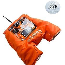 STARTRC RC transmisor de Invierno Mano cálida Guante frío Aire Escudo Campana Volando al Aire Libre para dji Mavic 2 Pro/Mavic 2 Zoom/Phantom 4/Phantom 3/Flysky/ Frsky Transmitter Funda (Orange)