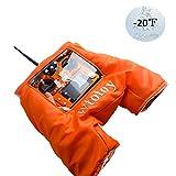 STARTRC RC Transmitter Winter Warmer Handschuh Cold Air Shield Hood Tasche für DJI Mavic 2 Pro/Mavic 2 Zoom/Phantom 3 Series/Phantom 4 Series/Flysky/Frsky Fernbedienung (Orange)