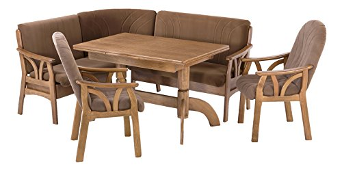 BFK Möbel Collection 20600 Eckbankgruppe, Holz, braun, 155 x 185 x 89 cm