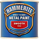 Hammerite Smooth RED 250ml brush on paint