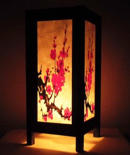 rare-asie-thai-lampe-de-tables-bouddha-style-chevet-rouge-sakura-fleur-par-thailande