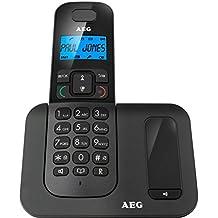 AEG Voxtel D505 Twin - Teléfono fijo digital - Negro