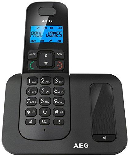 """AEG Voxtel D500 - Schnurloses 1.6\"""" DECT-Telefon mit Freisprecheinrichtung im Mobilteil - Schwarz"""
