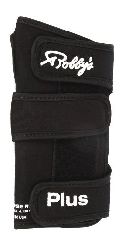Robby 's Coolmax Plus rechts Handgelenkstütze Bowling Handschuh, Herren, Coolmax Plus Right Wrist Support, schwarz