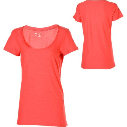 Horny Toad Damen Ruth Short Sleeve Top Pink (Guava)