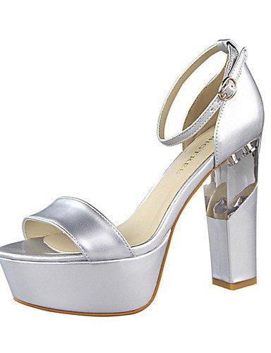 WSS 2016 Chaussures Femme-Décontracté-Noir / Rouge / Blanc / Argent / Gris / Nu-Gros Talon-Talons-Talons-Polyuréthane white-us6 / eu36 / uk4 / cn36