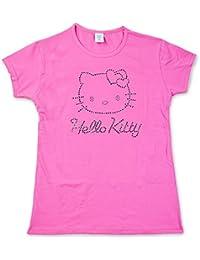 Hello Kitty Mädchen T-Shirt mit Strasssteinen (vers. Farben und Größen)