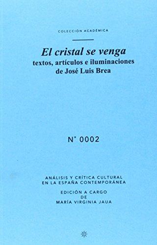 Descargar Libro El Cristal Se Venga: Textos, Artículos e Iluminaciones de José Luis Brea (Academica) de José Luis Brea