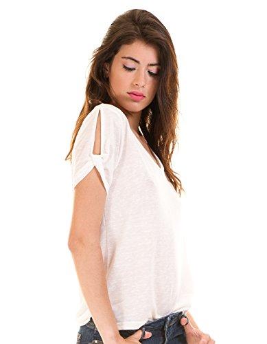 Vila Damen T-Shirt Weiß