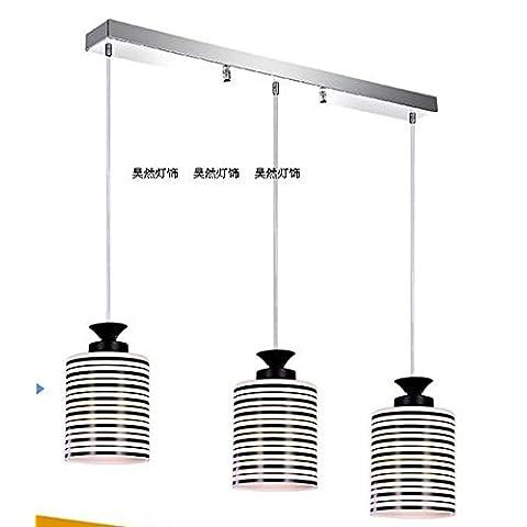 3 Lo stile europeo e minimalista moderno singolo in vetro di murano lampadari ,A,50*5*90cm