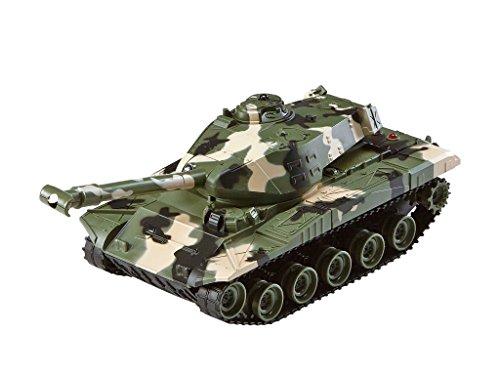Revell Control 24224 - RC Panzer Set, Battle Game POWER TRACKS, 2 RC Panzer mit Infrarot-Schussfunktion, Soundmodul, Rückstoßeffekt, Mündungsfeuer-LED, Kettenlaufwerk mit Gummikette, MHz - 3