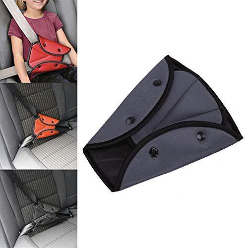MOTZU 2 Stück Schwarz Auto Sicherheitsgürtel Stabile Einsteller,Kindersitz Gurteinsteller,Auto Sicherheitsgurte Fixierer,Dreieck Universal Protector Pad,Einstellbare Gürtelpolster für Baby Kinder -