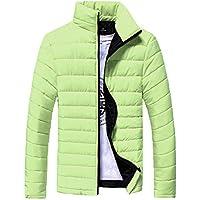 FRAUIT Herren Winterjacke Baumwolle Stand Zipper warme Winter dicken Mantel Übergangsjacke Steppjacke,Männerjacke Kapuzenjacke Windjacke J. StyleJacke M-3XL