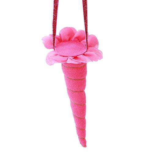 Lalang Einhorn Elastisches Stirnband-Kostüm für Erwachsene und Kinder Geschenk (Rose Red) (Einhorn Kostüm Kopfbedeckung)